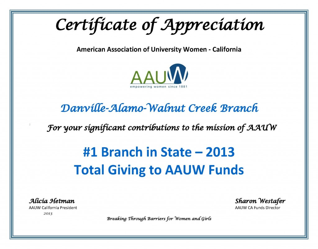 Certificate-of-Appreciation-Danville-Alamo-Walnut-Creek-2013
