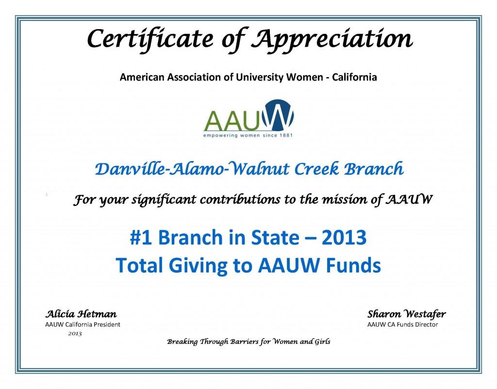 Certificate-of-Appreciation-Danville-Alamo-Walnut-Creek-2013